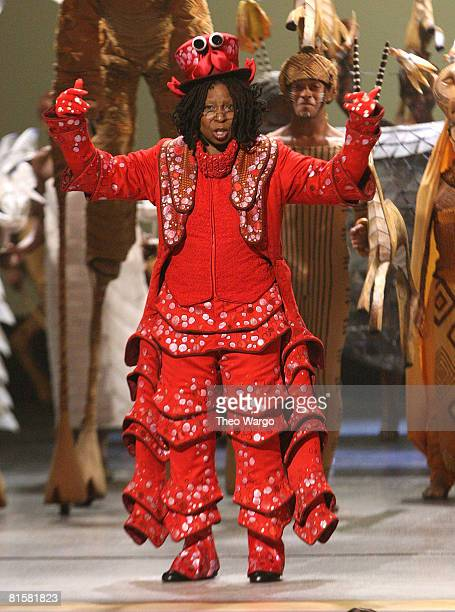 Host Whoopi Goldberg performs on stage during the 62nd Annual Tony Awards at Radio City Music Hall on June 15 2008 in New York City