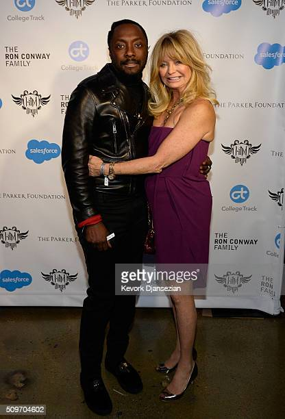 Host william and actress Goldie Hawn attend william's iamangel Foundation TRANS4M 2016 Gala at Milk Studios on February 11 2016 in Hollywood...