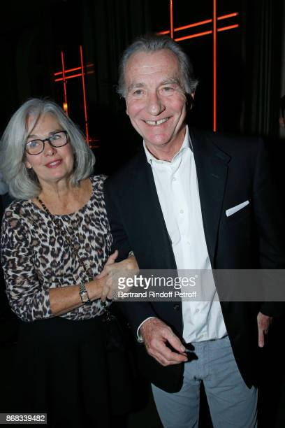 Host William Leymergie and his wife Maryline attend Claude Lelouch celebrates his 80th Birthday at Restaurant Victoria on October 30 2017 in Paris...