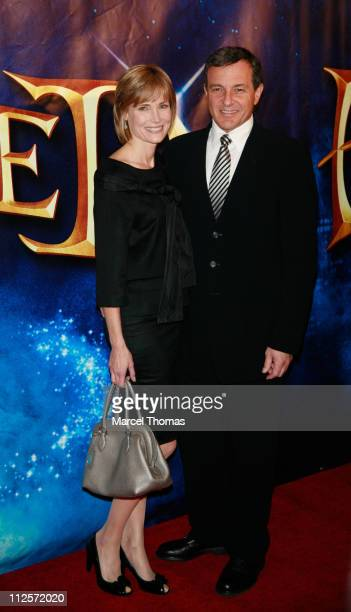 TV Host Willow Bay and husband WaltDisney Company President and CEO Bob Iger sighting attending the New York screening of the movie'Enchanted' at the...