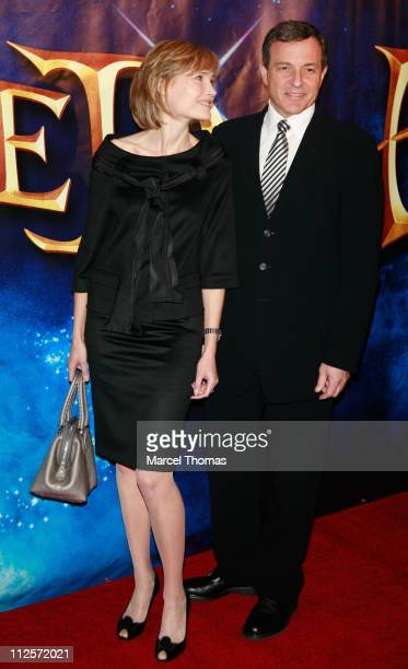 TV Host Willow Bay and husband WaltDisney Company President and CEO Bob Iger sighting attending the New York screening of the movieEnchanted at the...