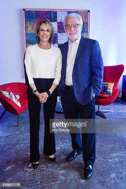 CNN host Wolf Blitzer and Lynn Greenfield pose for a photo during the 2016 CNN Correspondents' Brunch at the Longview gallery in Washington DC on May...