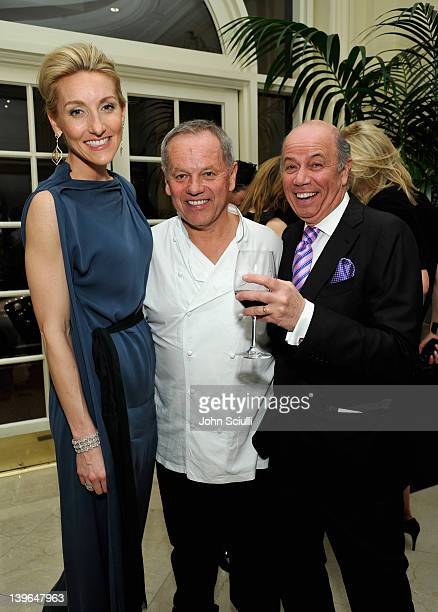 Host Wolfgang Puck and Vertu's Casey Gorman attend Vertu and Gelila and Wolfgang Puck Celebrate the Oscars and Dream for Africa Foundation at CUT on...