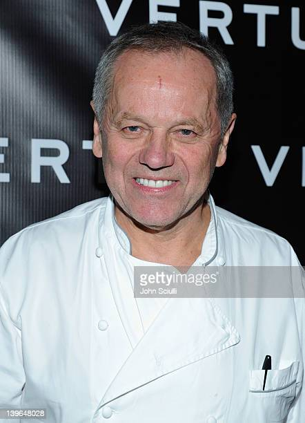 Host Wolfgang Puck arrives at Vertu and Gelila and Wolfgang Puck Celebrate the Oscars and Dream for Africa Foundation at CUT on February 23, 2012 in...