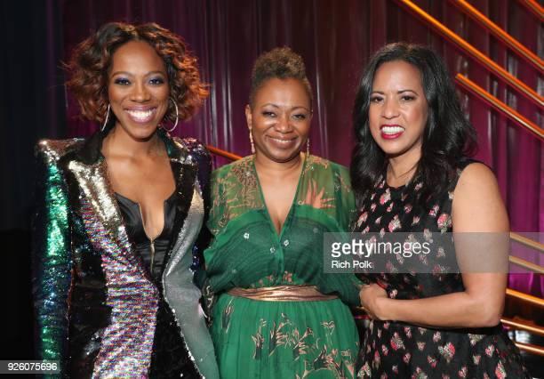 Host Yvonne Orji ESSENCE EditorinChief Vanessa K De Luca and President Essence Communications Inc Michelle Ebanks attend the 2018 Essence Black Women...