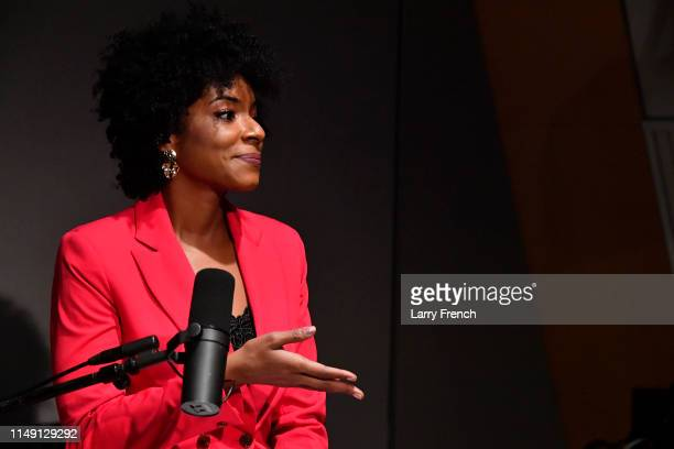 Host Zerlina Maxwell appears in a discussion on the work of the Congressional Black Caucus at SiriusXM Studio on May 14 2019 in Washington DC