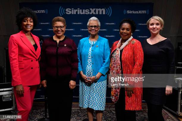 Host Zerlina Maxwell Rep Karen Bass Rep Bonnie Watson Rep Sheila Jackson Lee and host Jess McIntosh appear in a discussion on the work of the...