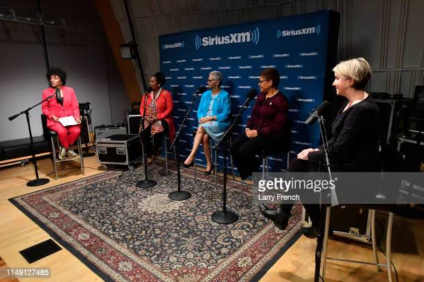 Host Zerlina Maxwell Rep Shelia Jackson Lee Rep Bonnie Watson Rep Karen Bass and host Jess McIntosh appear in a discussion on the work of the...