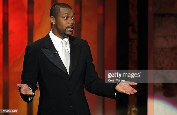 Host/actor Chris Tucker is seen on stage at the 36th NAACP Image Awards at the Dorothy Chandler Pavilion on March 19 2005 in Los Angeles California