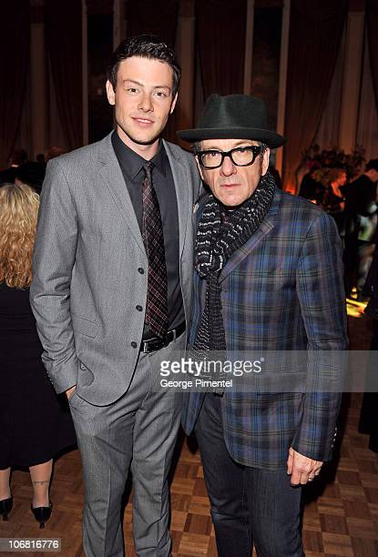 Host/actor Cory Monteith and singer Elvis Costello attend the 25th Annual Gemini Awards Gala Afterparty at the Fairmont Royal York Hotel on November...