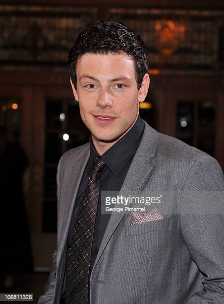 Host/actor Cory Monteith attends the 25th Annual Gemini Awards Gala at the Winter Garden Theatre on November 13, 2010 in Toronto, Canada.