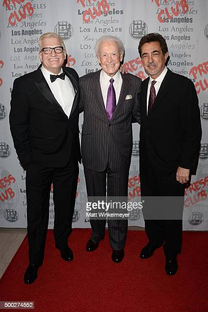 TV host/actor Drew Carey TV host Bob Barker and actor Joe Mantegna arrive at the National Arts and Entertainment Journalism Awards Gala at Millennium...