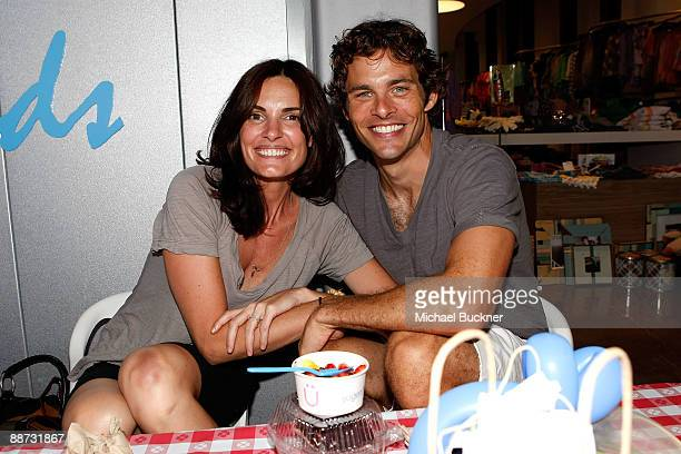 Host/actor James Marsden and wife Lisa Linde attend the EB Medical Research Foundation picnic presented by Sinupret for Kids and Yogen Fruz held at...