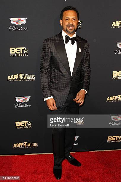 Host/Actor Mike Epps arrived to the 2016 American Black Film Festival Awards Gala Arrivals at The Beverly Hilton Hotel on February 21 2016 in Beverly...