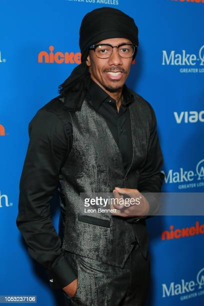 Host/Actor Nick Cannon attends 2018 Annual WISH Gala Arrivals at The Beverly Hilton Hotel on October 24 2018 in Beverly Hills California