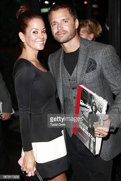 Host/actress Brooke BurkeCharvet and actor David Charvet arrive at the John Varvatos Rock In Fashion book launch celebration held at John Varvatos...