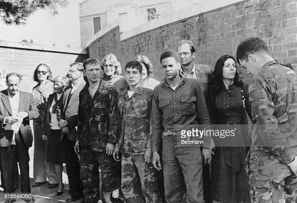 Hostages Paraded Outside Tehran Embassy 1979