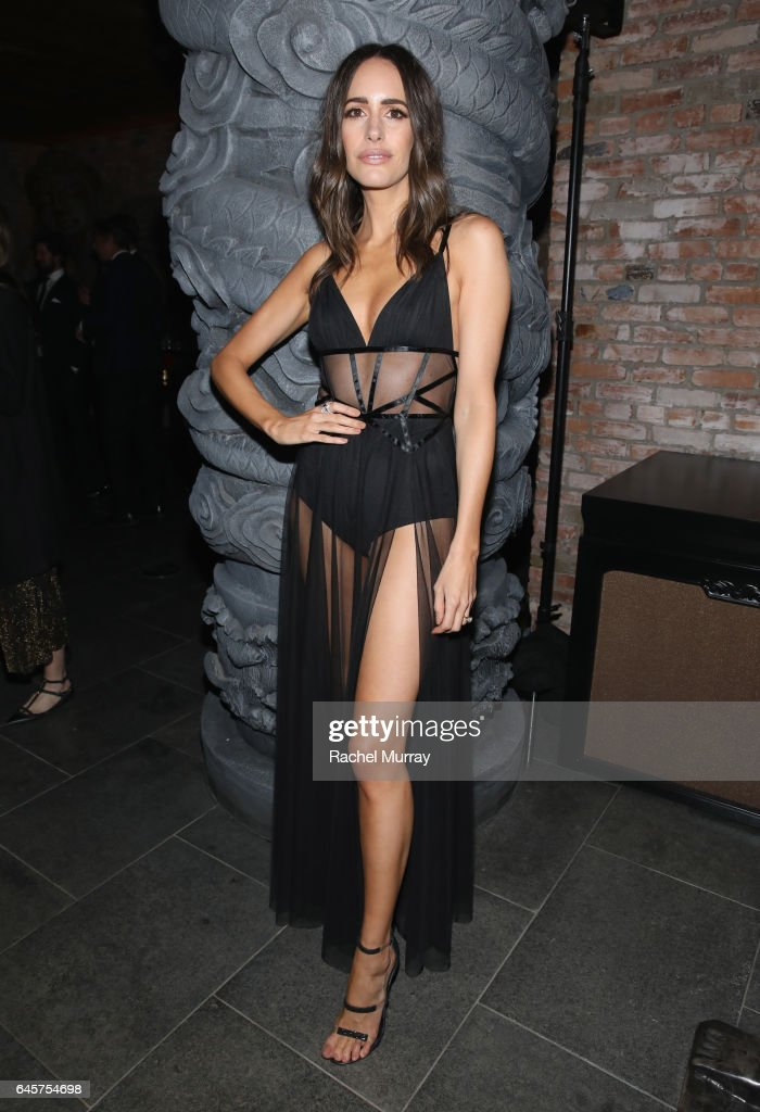 TV host/blogger Louise Roe attends The Weinstein Company's Academy Awards viewing and after party in partnership with Grey Goose at TAO Los Angeles on February 26, 2017, 2017 in Los Angeles, California.