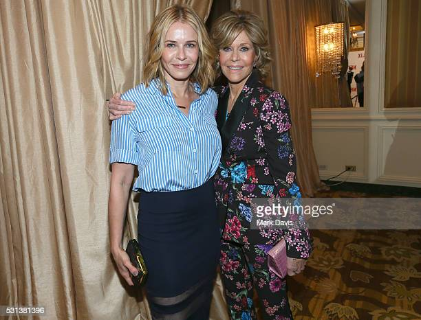 Host/comedian Chelsea Handler and actress Jane Fonda attend Netflix's Rebels and Rule Breakers Luncheon and Panel Celebrating The Women of Netflix at...
