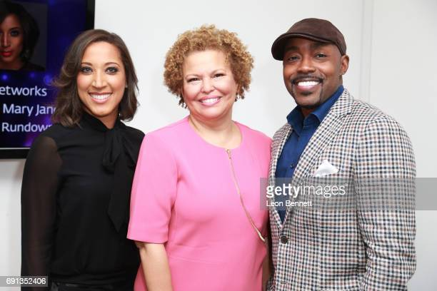 Host/comedian Robin Thede Chairman/CEO of BET Deber Lee and Executive producer Will Packer attends the PaleyDialogue A Conversation With Debra Lee...