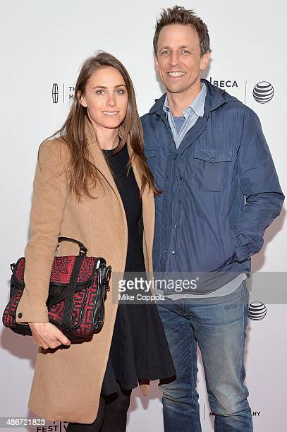 TV host/comedian Seth Meyers and Alexi Ashe attend the Sister Premiere during the 2014 Tribeca Film Festival at the SVA Theater on April 25 2014 in...