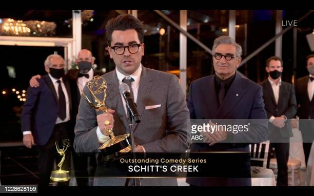 "Hosted by Jimmy Kimmel, the ""72nd Emmy® Awards"" will broadcast SUNDAY, SEPT. 20 , on ABC. DANIEL LEVY, EUGENE LEVY"