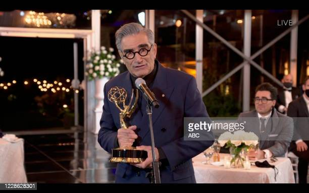 """Hosted by Jimmy Kimmel, the """"72nd Emmy® Awards"""" will broadcast SUNDAY, SEPT. 20 , on ABC. DANIEL LEVY, EUGENE LEVY"""