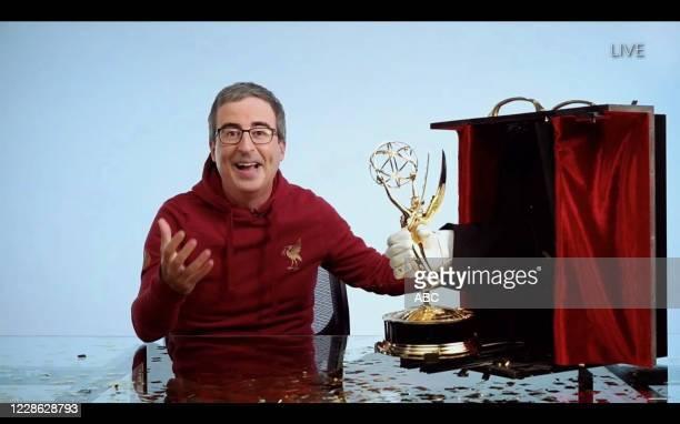 "Hosted by Jimmy Kimmel, the ""72nd Emmy® Awards"" will broadcast SUNDAY, SEPT. 20 , on ABC. JOHN OLIVER"