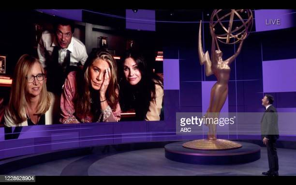 "Hosted by Jimmy Kimmel, the ""72nd Emmy® Awards"" will broadcast SUNDAY, SEPT. 20 , on ABC. LISA KUDROW, JENNIFER ANISTON, COURTENEY COX, JASON..."