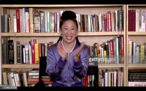 "Hosted by Jimmy Kimmel, the ""72nd Emmy® Awards"" will broadcast SUNDAY, SEPT. 20 , on ABC. SANDRA OH"