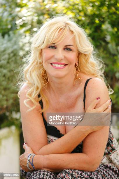 TV hostess Antonella Clerici on the terrace of her house in Rome Rome Italy 30th June 2016