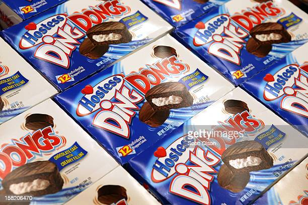 Hostess Ding Dongs are offered for sale at a JewelOsco grocery store on December 11 2012 in Chicago Illinois The JewelOsco grocery store chain...
