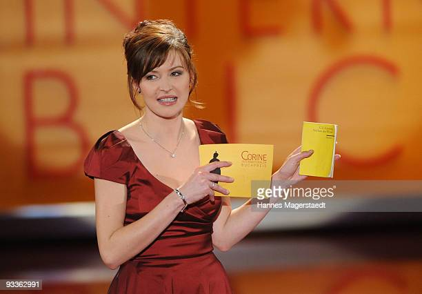 TV hostess Katrin Bauerfeind during the Corine Award 2009 at the Prinzregententheater on November 24 2009 in Munich Germany The Corine Awards are...