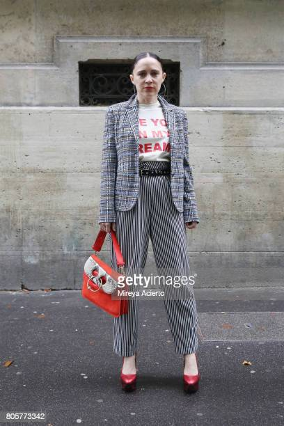 Hostess of The Reality Show Magazine Tiffany Godoy attends the Proenza Schouler Haute Couture fashion show on July 2 2017 in Paris France