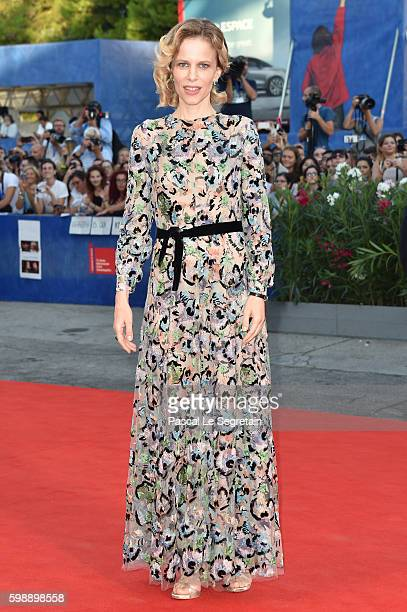 Hostess Sonia Bergamasco, attends the premiere of 'The Young Pope' during the 73rd Venice Film Festival at on September 3, 2016 in Venice, Italy.