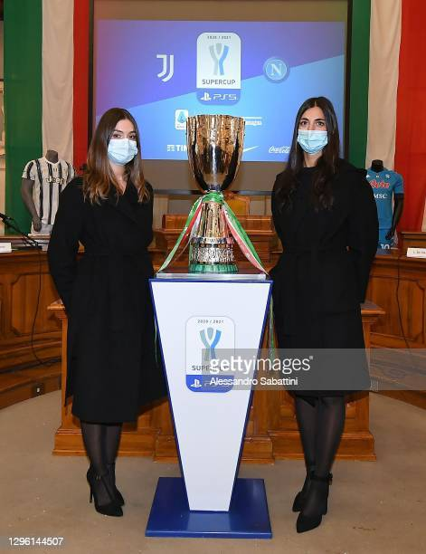 Hostess with SuperCup on January 13, 2021 in Reggio nell'Emilia, Italy.