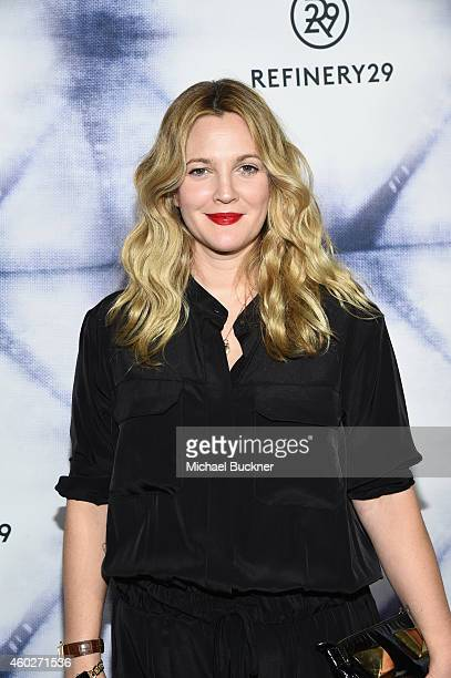 Hostess/actress Drew Barrymore attends Refinery29 Los Angeles Holiday Party Hosted By R29 EditorAtLarge Drew Barrymore at Sunset Tower on December 10...