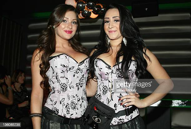 Hostesses at the Kardinal Offishall 13th Annual Christmas Party at Crown Lounge on December 22 2011 in Toronto Canada