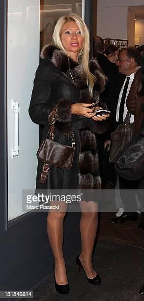 TV hostess/model Nadine Rodd attends the 'Gerard Darel' flagship opening on March 9 2011 in Paris France