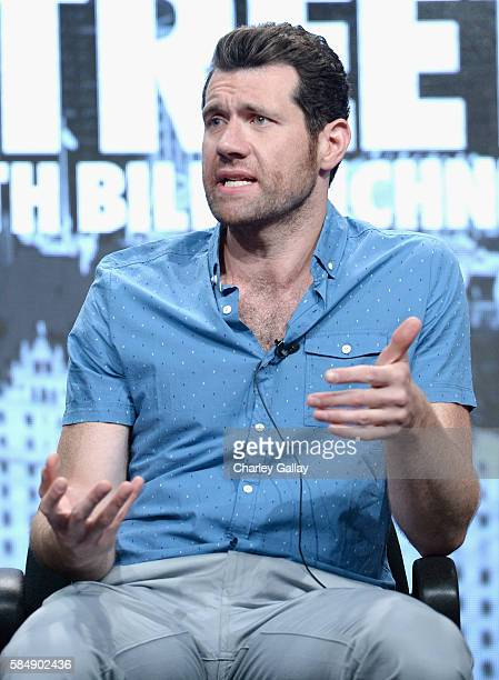 Host/executive producer Billy Eichner speaks onstage during the 'Billy on the Street' panel at the TCA Turner Summer Press Tour 2016 Presentation at...