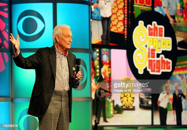 Host/executive producer Bob Barker of The Price Is Right speaks at his Farewell Press Conference during the 2007 Winter Television Critics...