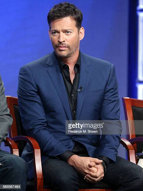 Host/executive producer Harry Connick Jr speaks onstage at the 'Harry' panel discussion during the NBCUniversal portion of the 2016 Television...