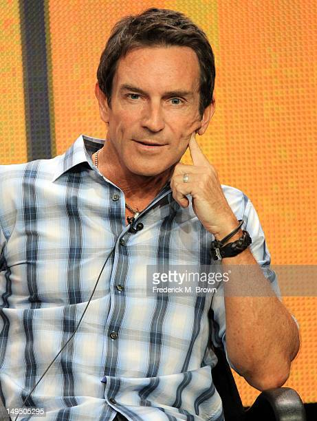 Host/executive producer Jeff Probst speaks at the 'The Jeff Probst Show' discussion panel during the CBS portion of the 2012 Summer Television...