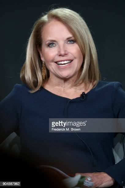Host/Executive producer Katie Couric of 'America Inside Out with Katie Couric' speaks onstage during the National Geographic Channels portion of the...