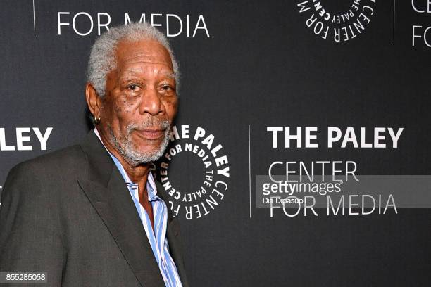 Host/executive producer Morgan Freeman attends The Paley Center for Media Presents 'The Story of Us with Morgan Freeman' at The Paley Center for...