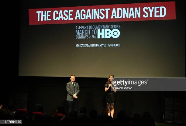 Host/film producer Thom Powers and director/executive producer Amy Berg introduce NY premiere of HBO's The Case Against Adnan Syed at PURE NON...