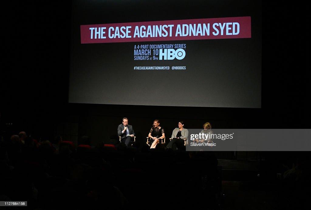 "NY Premiere Of HBO's ""The Case Against Adnan Syed"" At PURE NON FICTION : Fotografía de noticias"