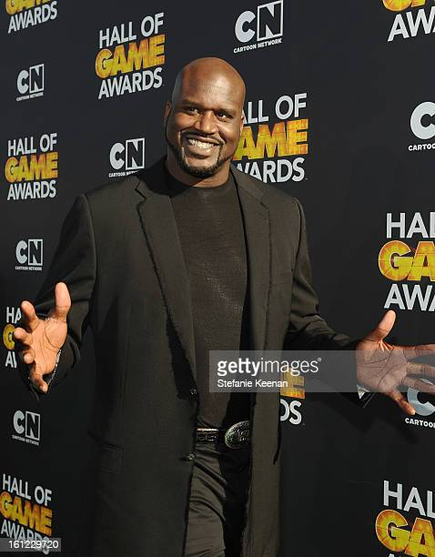 Host/former professional basketball player Shaquille O'Neal attends the Third Annual Hall of Game Awards hosted by Cartoon Network at Barker Hangar...