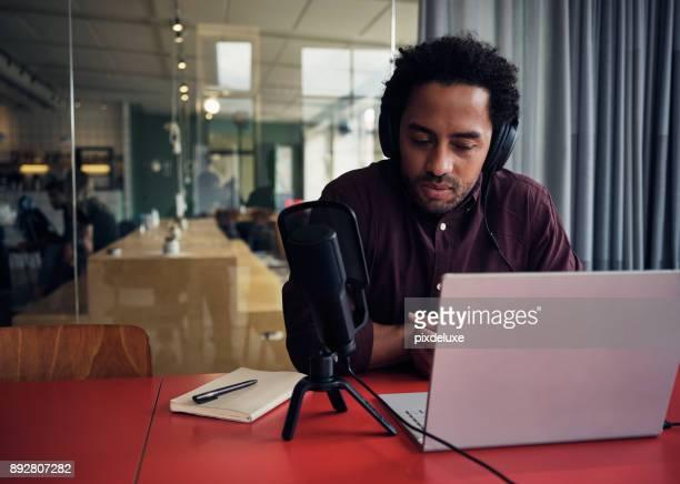 Hosting an online talk show