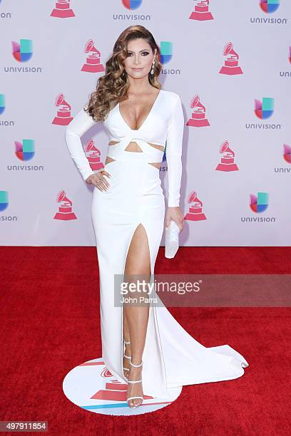 TV host/model Chiquinquira Delgado attends at the 16th Latin GRAMMY Awards at the MGM Grand Garden Arena on November 19 2015 in Las Vegas Nevada